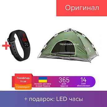 Палатка универсальная местная автоматическая | палатка туристическая 2-х местная  зеленая