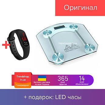 Весы электронные напольные квадратные стеклянные до 180кг 2003B