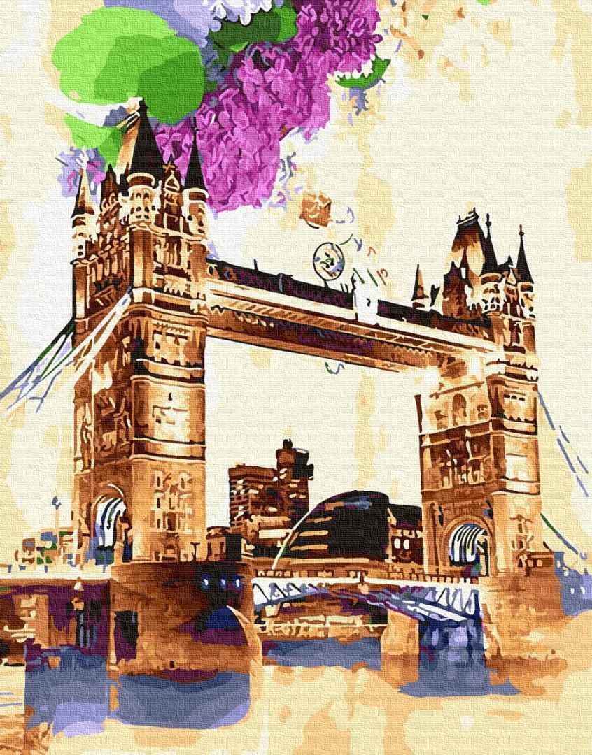 Картина за номерами Тауэрский мост акварелью GX29116 40х50см набір для розпису, фарби та пензлі набір для
