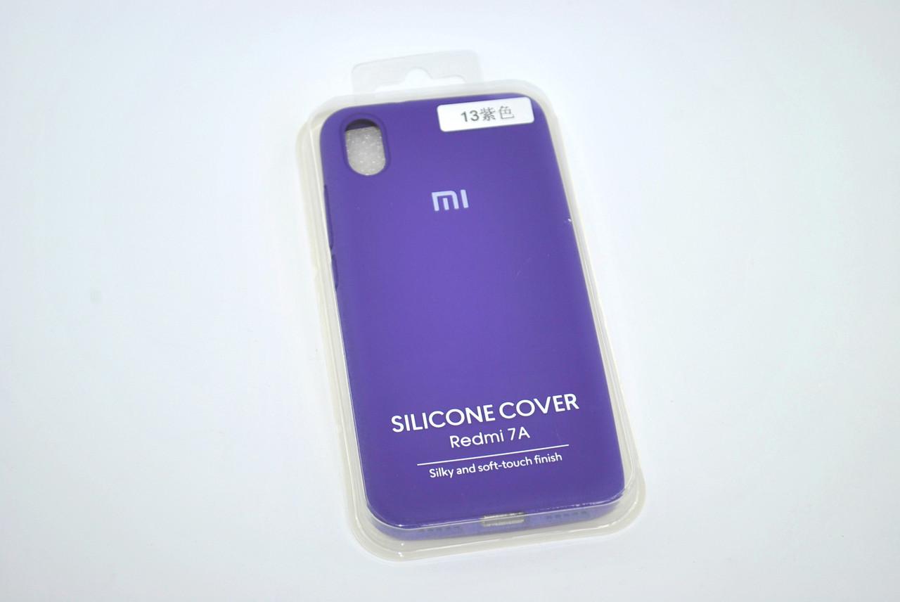 Чехол Xiaomi Redmi 8A Silicon Original FULL №13 Violet (4you)