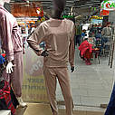 Костюм жіночий кофта та штани мерехтливої кольору, тканина - мікро велюр. XL, фото 2