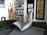Кресло мешок серебряный Авиатор