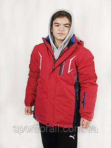 Спортивная зимняя куртка термо подростковая Col р.46,50 М-12 (красный)