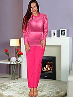 Теплая малиновая махровая пижама