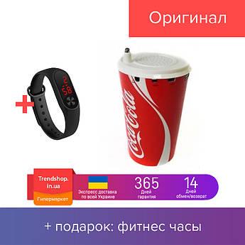 Портативная колонка   мини-динамик Coca Cola стакан с подсветкой