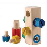 Розвиваюча іграшка Guidecraft Manipulatives Блок з гвинтами (G2003), фото 1