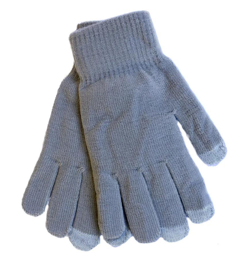 Эластичные женские сенсорные перчатки Осень/Зима серые 1280954576