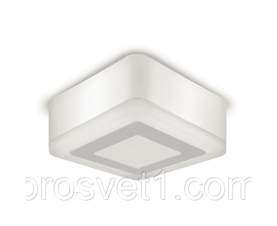 Светильник LED квадрат накладной 3+3W 3000K 105*105