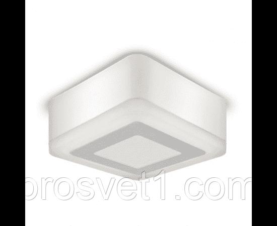 Світильник LED квадрат накладної 3+3W 3000K 105*105