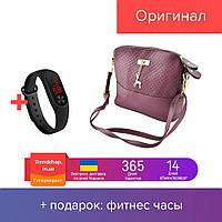 Модная женская сумка | сумка клатч Бэмби фиолетовая