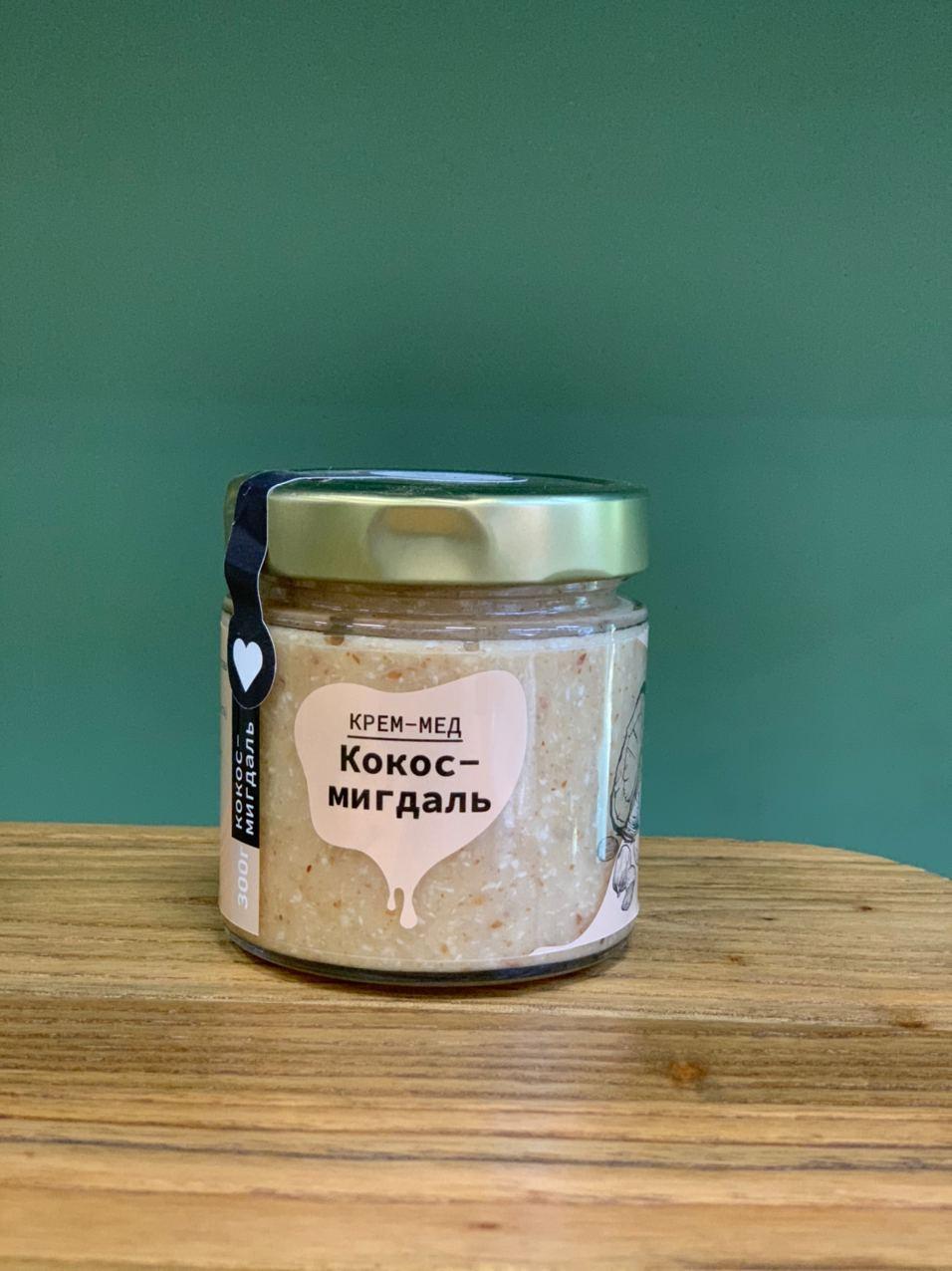 Крем-мёд натуральный / Кокос и миндаль