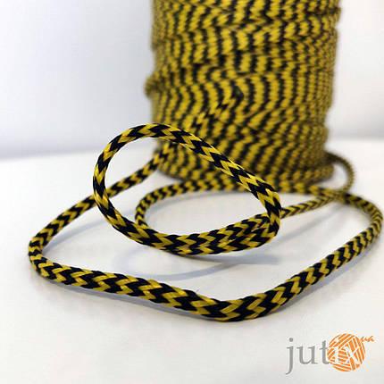 Шнур ПП (плетеный) 2,5 мм - 50 метров черно-желтый, фото 2