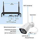 Беспроводной комплект видеонаблюдения UKC на 4 Wi-Fi камеры 2МП, NVR 4K KIT WiFi, Гарантия!, фото 6