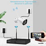Беспроводной комплект видеонаблюдения UKC на 4 Wi-Fi камеры 2МП, NVR 4K KIT WiFi, Гарантия!, фото 8