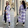 Женское модное длинное кашемировое пальто в клетку, в больших размерах, фото 4
