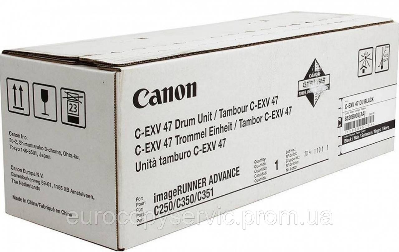 Драм-картридж Canon C-EXV47 iR Adv 350/250/С1325 Cyan (8521B002) Original В КОМПЛЕКТІ ТОНЕР НЕ ЙДЕ!