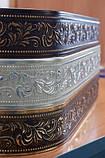 Лента декоративная на карниз, бленда Оригинал 307 Золото тёмное 70 мм на усиленный потолочный карниз КСМ, фото 4