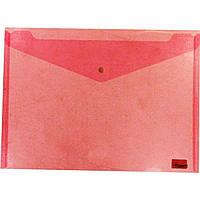 Папка-конверт Axent 1402-24 А4 на кнопке красная