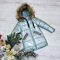 Зимняя куртка 1098 на 100% холлофайбере размеры от 98 см до 122 см рост, фото 1