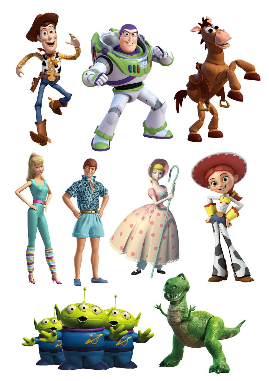 Вафельна картинка Історія іграшок | Їстівні картинки Toy Story | Історія іграшок картинки різні Формат А4