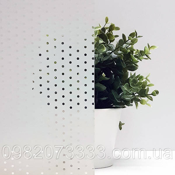 Декоративна тонувальна плівка на вікна з малюнком Точки Прозорі Armolan ширина 1,27 м