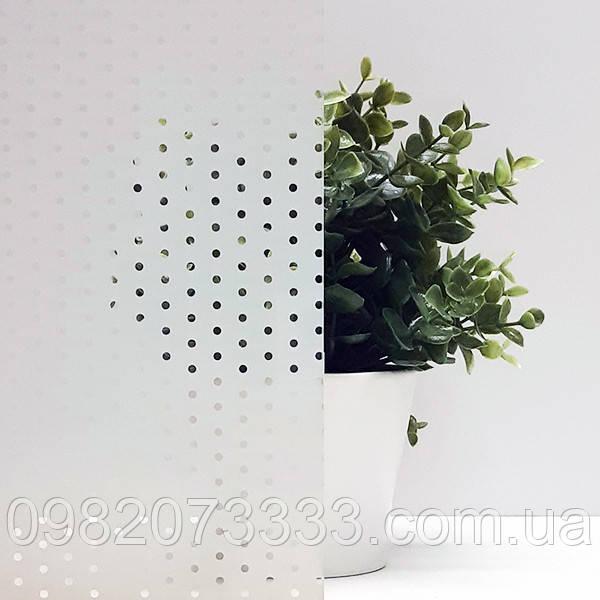 Декоративная тонировочная плёнка на окна с рисунком Точки Прозрачные Armolan ширина 1,27 м