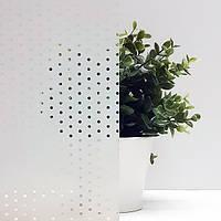 Декоративная тонировочная плёнка на окна с рисунком Точки Прозрачные Armolan ширина 1,27 м, фото 1