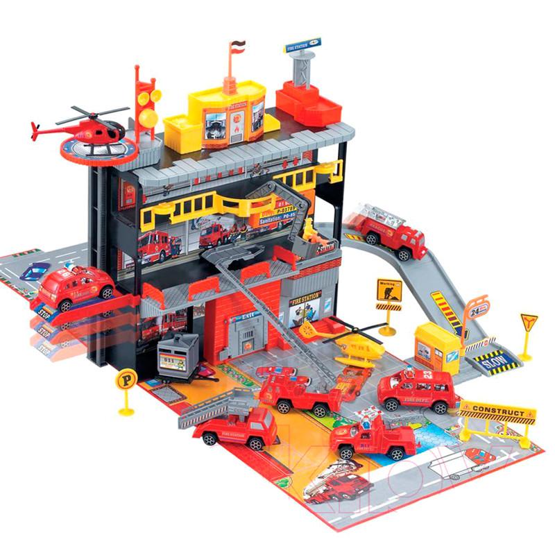 Игрушка паркинг с машинками Пожарная служба MAYA TOYS (566-4)