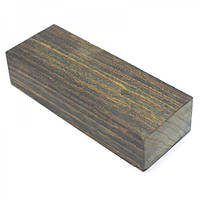 Стабілізована деревина брусок Зебрано зелений Крилат 126х47х28мм, фото 1