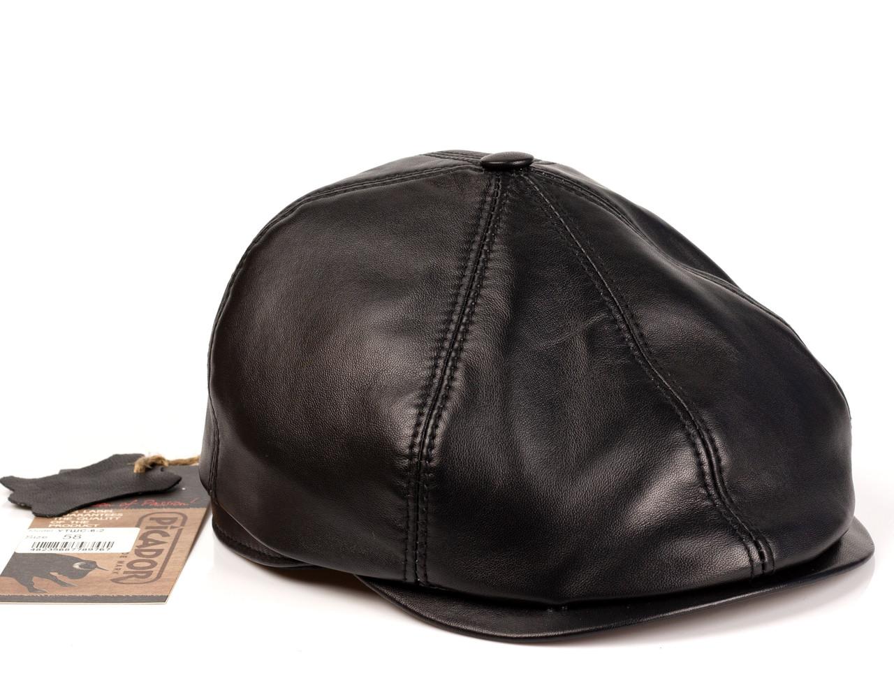 Кепка кожаная Шестиклинка Picador черный