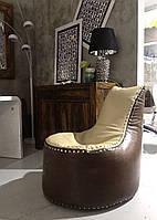 Кресло мешок коричневый Авиатор в стиле лофт, модерн