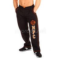 NPC, Штаны спортивные теплые NPC USA Fleece Pants, черный/оранжевый