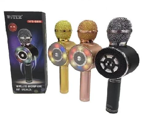 Дитячий мікрофон з функцією караоке USB, microSD, AUX, Bluetooth Wster WS-669, фото 2