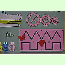 Розвиваюча дошка розмір 30*50 Бизиборд для дітей, фото 3