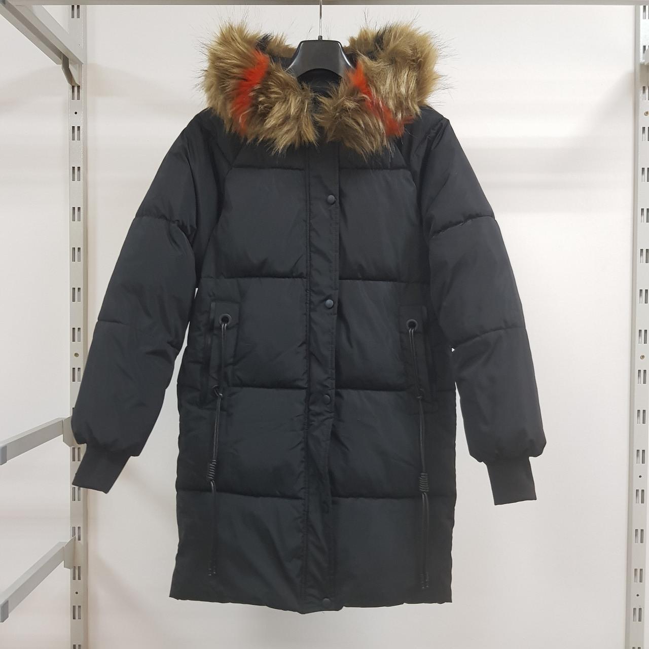 Куртка длинная чёрная - 215-01-3