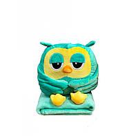 Игрушка подушка плед сова 3в1