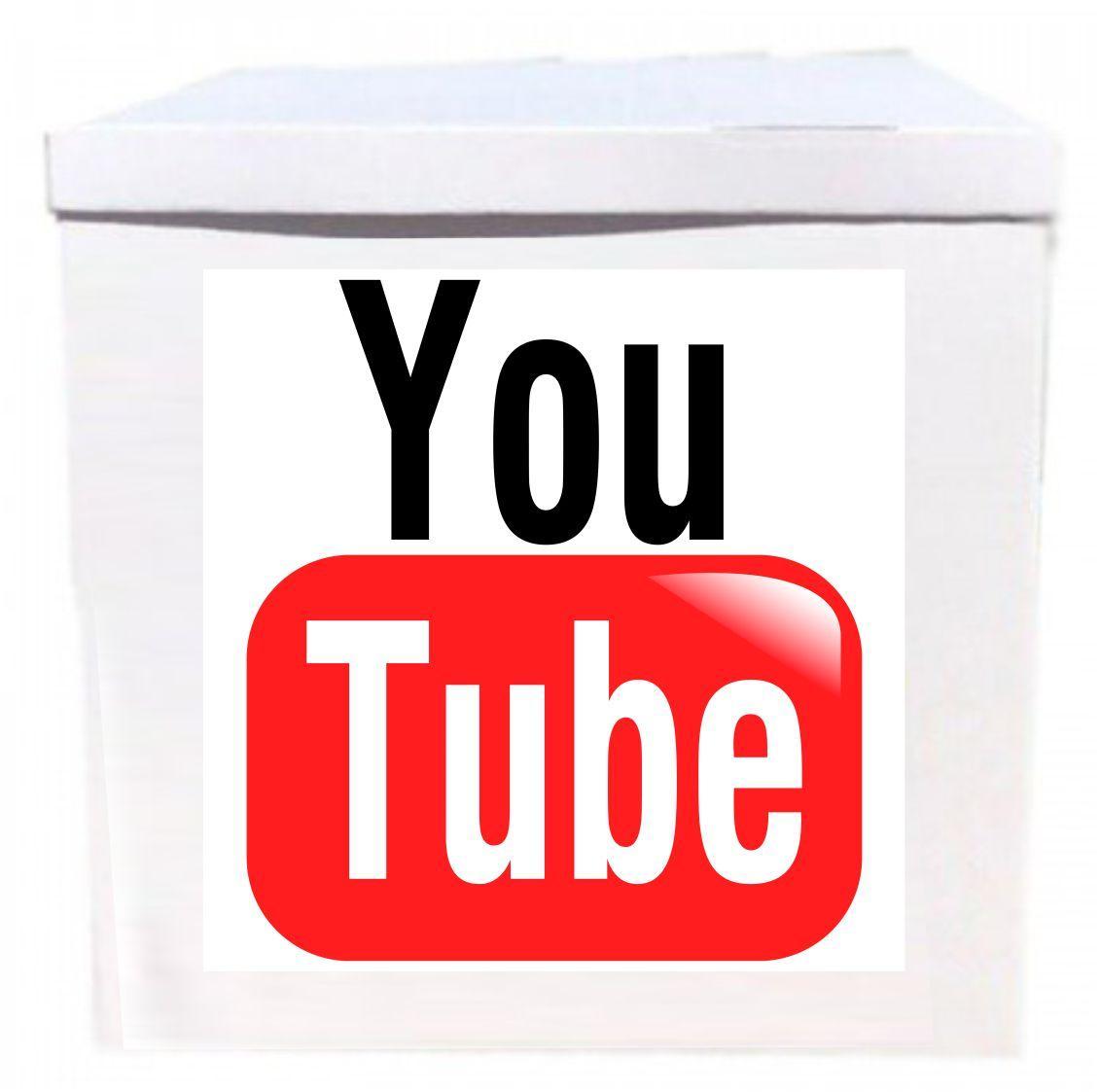 Оракал You Tube  на коробку розміром 70*70см
