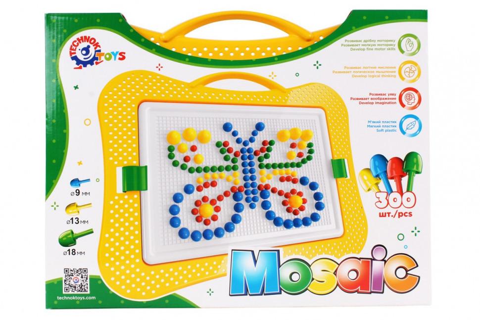 Мозаика детская пластмассовая 300 деталей