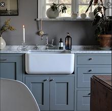 Мойка кухонная керамическая с открытым фронтом в американском/английском стиле Shaws Butler 800 бисквит