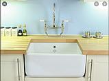 Мийка кухонна керамічна з відкритим фронтом в американському/англійському стилі Shaws Butler 800 бісквіт, фото 3