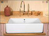 Мийка кухонна керамічна з відкритим фронтом в американському/англійському стилі Shaws Butler 800 бісквіт, фото 4