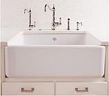 Мийка кухонна керамічна з відкритим фронтом в американському/англійському стилі Shaws Butler 800 бісквіт, фото 5