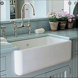 Мийка кухонна керамічна з відкритим фронтом в американському/англійському стилі Shaws Butler 800 бісквіт, фото 9