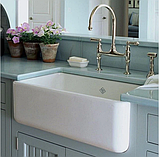 Мийка кухонна керамічна з відкритим фронтом в американському/англійському стилі Shaws Butler 800 бісквіт, фото 10
