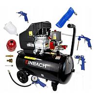 Компрессор Einbach DE-EH24 2.8 кВт, 24л + набор пневмоинструментов из 5 предметов