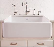Мойка кухонная керамическая с открытым фронтом в американском/английском стиле Shaws Butler 600 бисквит