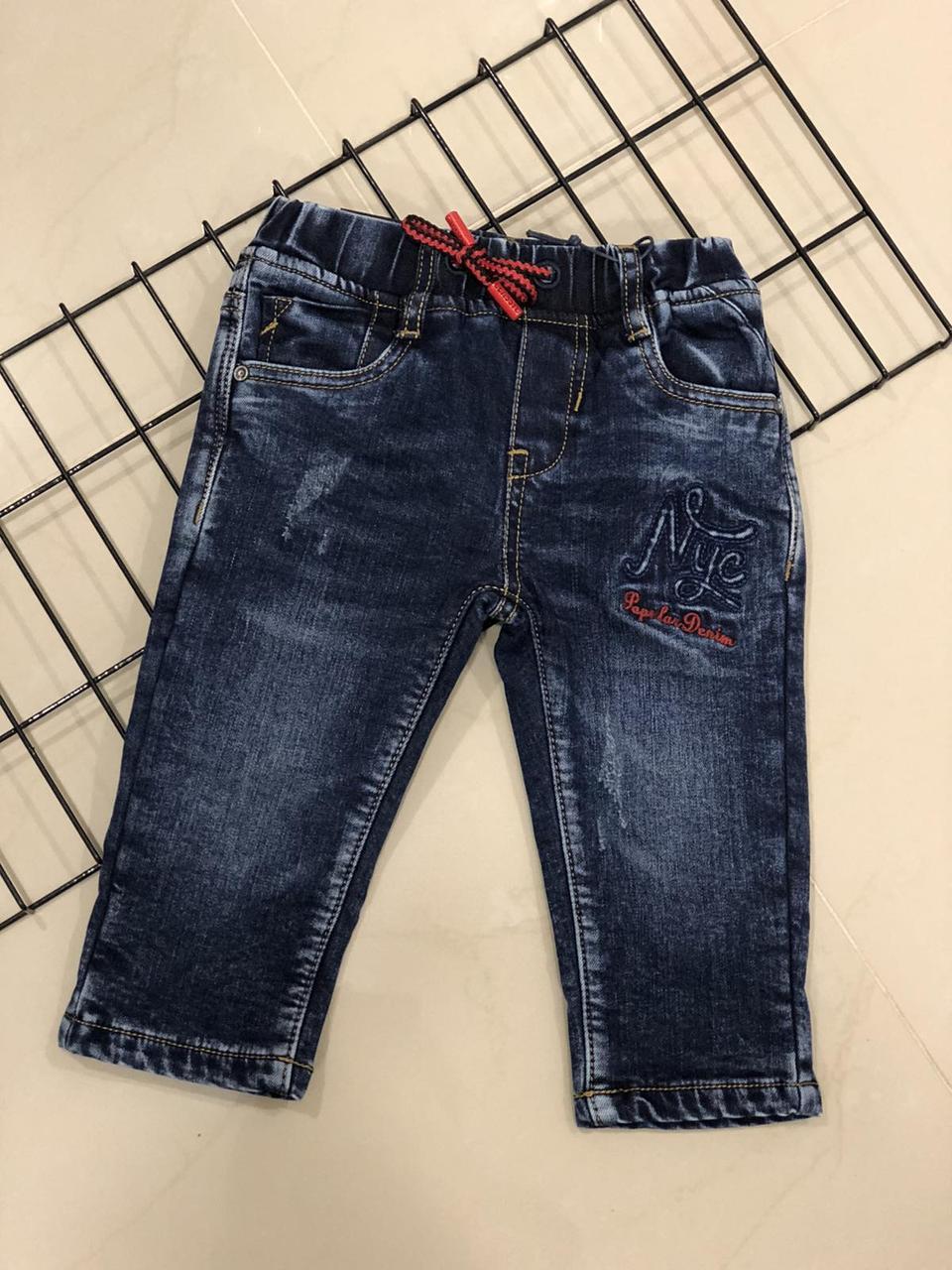 Детские утепленные  джинсы  (на рост  110 см)