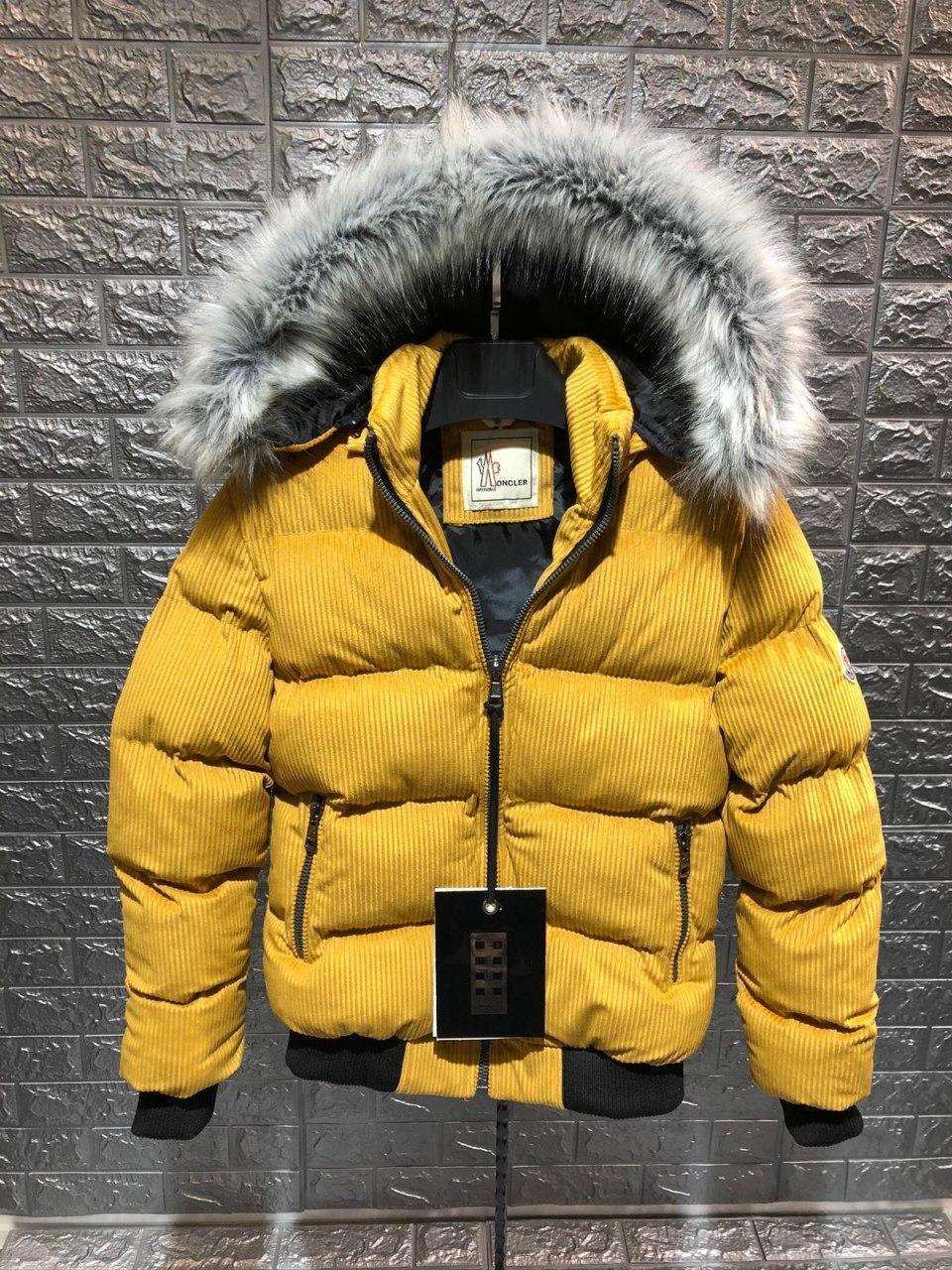 😜 Куртка Чоловіча куртка микровельвет гірчична