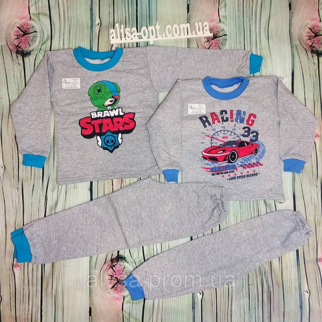 Детская пижама Серая для мальчика начес