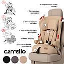 Детское автокресло бежевое с направляющими ремня CARRELLO Premier CRL-9801/2 Beige Lion от 1 года до 12 лет, фото 2